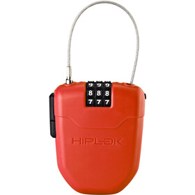 Hiplok FX Candado de cable con reflector, red